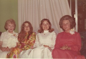 Ann with her sister, mother and grand mother