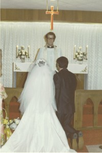 Father Whitehead marrying us