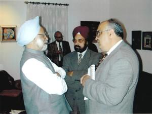 With Manmohan Singh