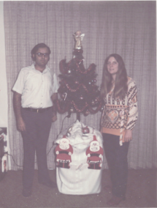 Ann and Kanwal, Xmas of 1971