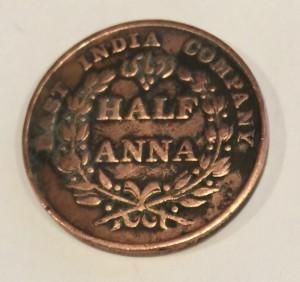 East India Company Half Anna 1