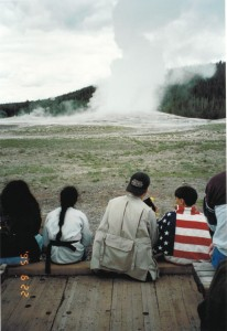 Waiting for Old Faithful
